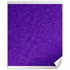 Festive Purple Glitter Texture Canvas 11  X 14   by yoursparklingshop