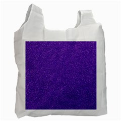 Festive Purple Glitter Texture Recycle Bag (one Side) by yoursparklingshop