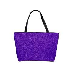 Festive Purple Glitter Texture Shoulder Handbags by yoursparklingshop
