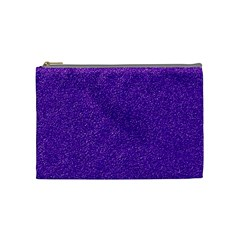 Festive Purple Glitter Texture Cosmetic Bag (medium)  by yoursparklingshop