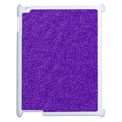 Festive Purple Glitter Texture Apple Ipad 2 Case (white) by yoursparklingshop