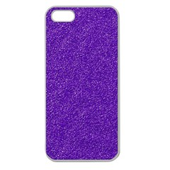 Festive Purple Glitter Texture Apple Seamless Iphone 5 Case (clear) by yoursparklingshop