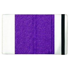 Festive Purple Glitter Texture Apple Ipad 3/4 Flip Case by yoursparklingshop