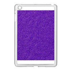 Festive Purple Glitter Texture Apple Ipad Mini Case (white) by yoursparklingshop