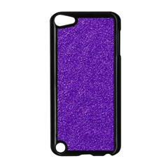 Festive Purple Glitter Texture Apple iPod Touch 5 Case (Black) by yoursparklingshop