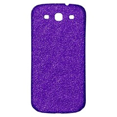Festive Purple Glitter Texture Samsung Galaxy S3 S Iii Classic Hardshell Back Case by yoursparklingshop