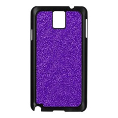 Festive Purple Glitter Texture Samsung Galaxy Note 3 N9005 Case (black) by yoursparklingshop