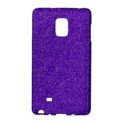 Festive Purple Glitter Texture Galaxy Note Edge by yoursparklingshop