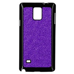 Festive Purple Glitter Texture Samsung Galaxy Note 4 Case (black) by yoursparklingshop