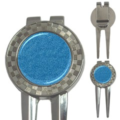 Festive Blue Glitter Texture 3 In 1 Golf Divots by yoursparklingshop