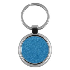 Festive Blue Glitter Texture Key Chains (round)  by yoursparklingshop