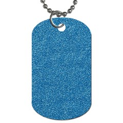 Festive Blue Glitter Texture Dog Tag (two Sides) by yoursparklingshop