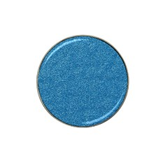 Festive Blue Glitter Texture Hat Clip Ball Marker (10 Pack) by yoursparklingshop