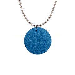 Festive Blue Glitter Texture Button Necklaces by yoursparklingshop