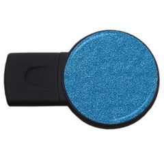 Festive Blue Glitter Texture Usb Flash Drive Round (4 Gb)  by yoursparklingshop