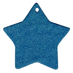 Festive Blue Glitter Texture Star Ornament (two Sides)  by yoursparklingshop