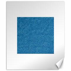 Festive Blue Glitter Texture Canvas 20  X 24   by yoursparklingshop
