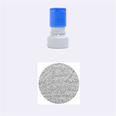 Festive Blue Glitter Texture Rubber Round Stamps (small) by yoursparklingshop