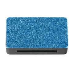Festive Blue Glitter Texture Memory Card Reader With Cf by yoursparklingshop