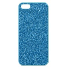Festive Blue Glitter Texture Apple Seamless Iphone 5 Case (color) by yoursparklingshop