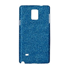 Festive Blue Glitter Texture Samsung Galaxy Note 4 Hardshell Case by yoursparklingshop