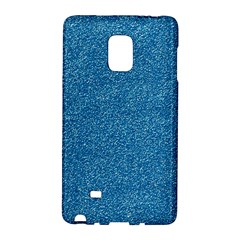 Festive Blue Glitter Texture Galaxy Note Edge by yoursparklingshop