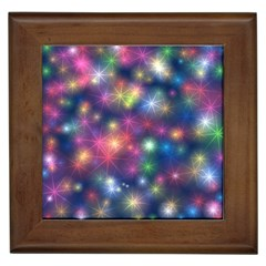 Starlight Shiny Glitter Stars Framed Tiles by yoursparklingshop