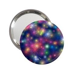 Starlight Shiny Glitter Stars 2 25  Handbag Mirrors