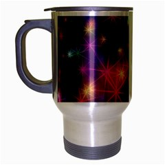 Starlight Shiny Glitter Stars Travel Mug (silver Gray) by yoursparklingshop