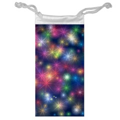 Starlight Shiny Glitter Stars Jewelry Bags by yoursparklingshop