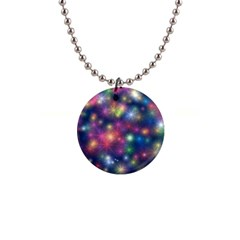 Starlight Shiny Glitter Stars Button Necklaces by yoursparklingshop