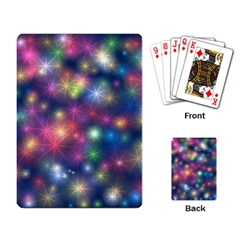 Starlight Shiny Glitter Stars Playing Card by yoursparklingshop