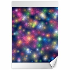 Starlight Shiny Glitter Stars Canvas 12  X 18   by yoursparklingshop