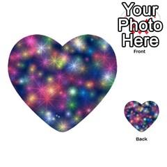 Starlight Shiny Glitter Stars Multi Purpose Cards (heart)  by yoursparklingshop
