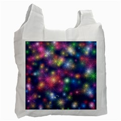 Starlight Shiny Glitter Stars Recycle Bag (two Side)  by yoursparklingshop