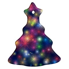 Starlight Shiny Glitter Stars Christmas Tree Ornament (2 Sides) by yoursparklingshop