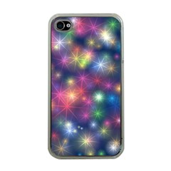 Starlight Shiny Glitter Stars Apple Iphone 4 Case (clear) by yoursparklingshop