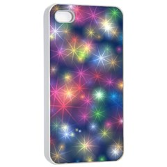 Starlight Shiny Glitter Stars Apple Iphone 4/4s Seamless Case (white) by yoursparklingshop