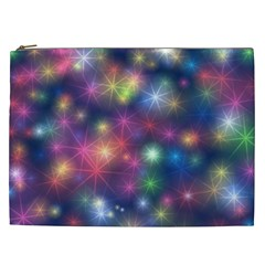 Starlight Shiny Glitter Stars Cosmetic Bag (xxl)  by yoursparklingshop