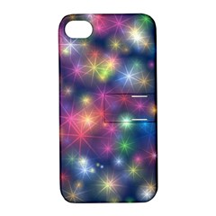 Starlight Shiny Glitter Stars Apple Iphone 4/4s Hardshell Case With Stand by yoursparklingshop