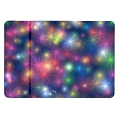 Starlight Shiny Glitter Stars Samsung Galaxy Tab 8 9  P7300 Flip Case by yoursparklingshop