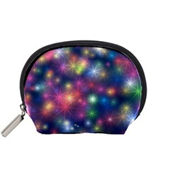 Starlight Shiny Glitter Stars Accessory Pouches (small)  by yoursparklingshop