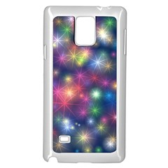 Starlight Shiny Glitter Stars Samsung Galaxy Note 4 Case (white) by yoursparklingshop
