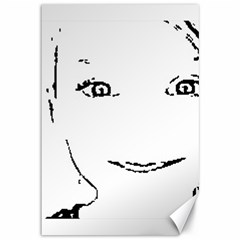 Portrait Black And White Girl Canvas 12  x 18   by yoursparklingshop