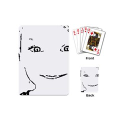 Portrait Black And White Girl Playing Cards (mini)  by yoursparklingshop