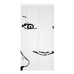 Portrait Black And White Girl Shower Curtain 36  X 72  (stall)  by yoursparklingshop