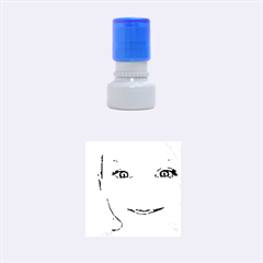 Portrait Black And White Girl Rubber Round Stamps (small) by yoursparklingshop
