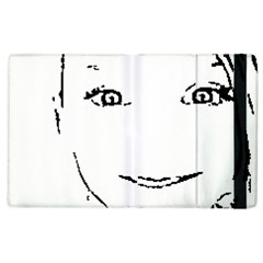 Portrait Black And White Girl Apple Ipad 3/4 Flip Case by yoursparklingshop