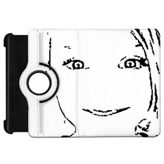 Portrait Black And White Girl Kindle Fire Hd Flip 360 Case by yoursparklingshop
