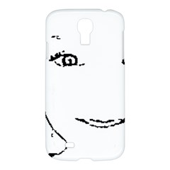 Portrait Black And White Girl Samsung Galaxy S4 I9500/i9505 Hardshell Case by yoursparklingshop